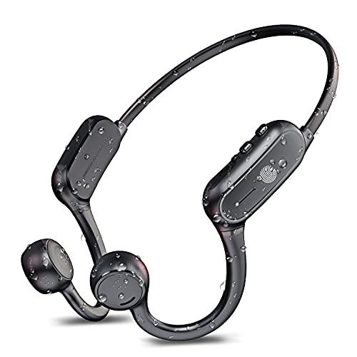 【Bluetooth 5.2 耳を塞がない】 骨伝導イヤホン Bluetooth イヤホン Bluetooth 5.2 10時間連続再生 超軽量 耳掛け式 両耳通話 AAC CVC8.0ノイズキャンセリング 防水機能 骨伝導イヤホン スポーツ 日本語取説付