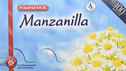 Pompadour Té Infusion Manzanilla - 100 bolsitas - [pack de 2]