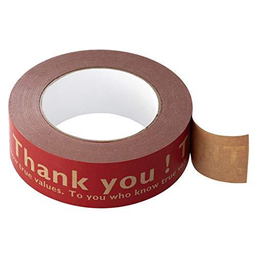 ヘッズ 日本製 クラフトテープ 3.8cm×50m巻 赤 1巻 サンキューテープ 印 ガムテープ 梱包テープ HEADS T-KL1