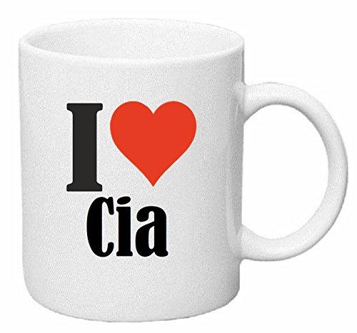 Reifen-Markt Kaffeetasse I Love CIA Keramik Höhe 9,5cm ? 8cm in Weiß