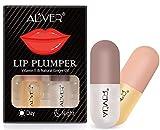 Lip Plumper, Tag und Nacht Doppelte Wirkung Lip Plumping Lip Booster Enhancer, Pflanzenextrakte Plumping Lip Serum für Vollere Lippen und Hydratisierte Lips