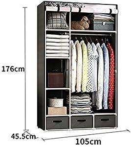 DR - Cloth Wardrobe Dustproof Small Single Student Dormitory Fabric Wardrobe Storage Clothes Locker Foldable Wardrobe (Color : B)