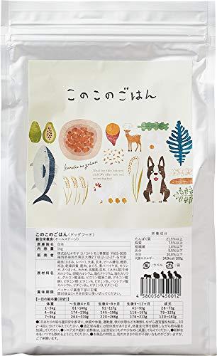 コノコトトモニ このこのごはん ドッグフード 全犬種 全年齢対応 [ 国産 無添加 厳選自然素材 ] 小麦グルテンフリー 1kg