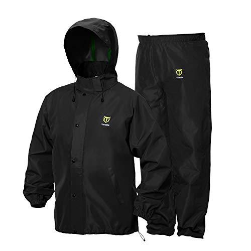 TideWe Rain Suit, Breathable Waterproof Durable Sport Rainwear (Black Size XXXL)