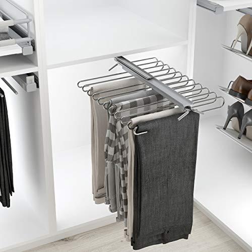 Casaenorden - Pantalonero extraíble Reversible - 9 ó 11 Pantalones - Perchero para Pantalones - para 11 Pantalones
