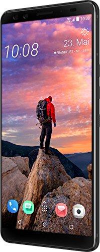 """Htc U12+ Smartphone da 6"""" Doppia Sim 4G, 64 Gb, Nero ceramica"""