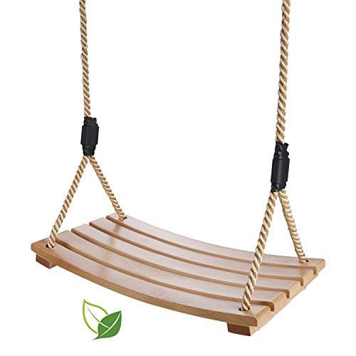 Un columpio de madera, columpio de jardín, columpio impermeable en forma de arco, columpio de madera para niños en el jardín, patio, interior y exterior (dorado)