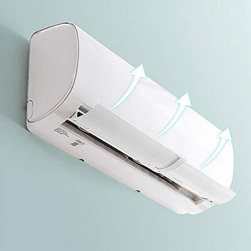 Omabeta deflettore del condizionatore d'Aria di Progettazione dello Slot per schede, Installazione Semplice dello Schermo Anti-Diretto deflettore telescopico deflettore per la Cucina(White)