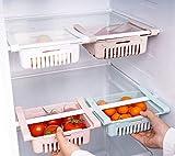 Deals - Cassetto organizzatore Frigorifero - salvaspazio per Tenere Il Frigorifero in Ordine - Contenitore per Alimenti