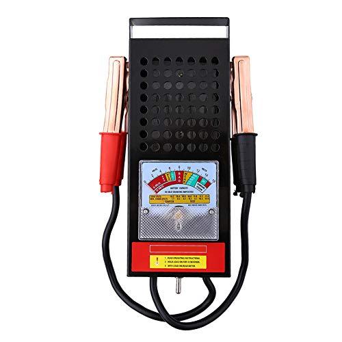 Tester di Batterie, Battery Checker Test Batterie Auto in Acciaio Inox per Batteria 6V-12V, Intervallo di Misurazione Corrente 0-100 A