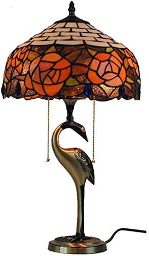 Hermosa ciudad pastoral europea iluminación de la mesa de cobre puro lámpara de estar sala de estar dormitorio decoración 12 pulgadas