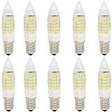 10pcs ampoule LED de base E14 5W, 44 LED SMD 2835, remplacement de l'ampoule incandescente 40W, non dimmable, blanc froid 6000K, 350LM, AC220-240V
