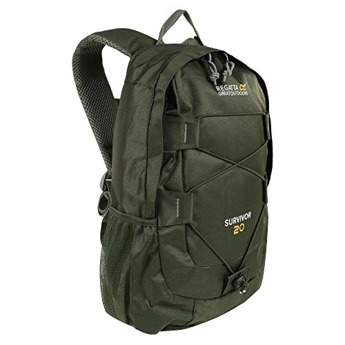 Regatta Survivor III Hardwearing Padded Hiking Rucksack - Dark Khaki, 20 Litre