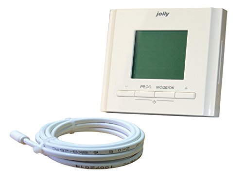 Jollytherm 00132 Rapid Terraheat Uhrenthermostat unter Putz für elektrische Fußbodenheizungen