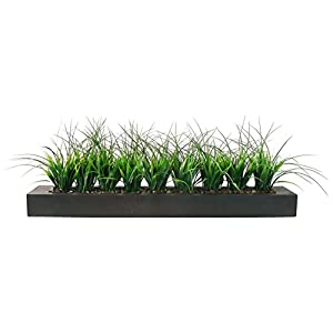 Vintage Home Green Grass in Contemporary Wood Planter-VHA100056 Fake Plant