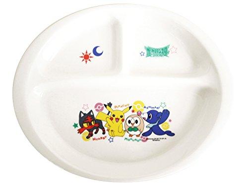 「 ポケットモンスター サン&ムーン 」 ランチプレート 皿 23cm 子供用 食器 白 141327