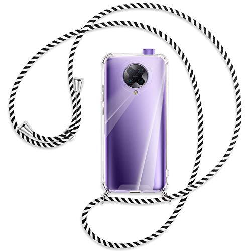 mtb more energy® Collar Smartphone para Xiaomi Poco F2 Pro, Redmi K30 Pro, K30 Ultra (6.67'') - Black & White - Funda Carcasa Anti Shock con Correa para Hombro