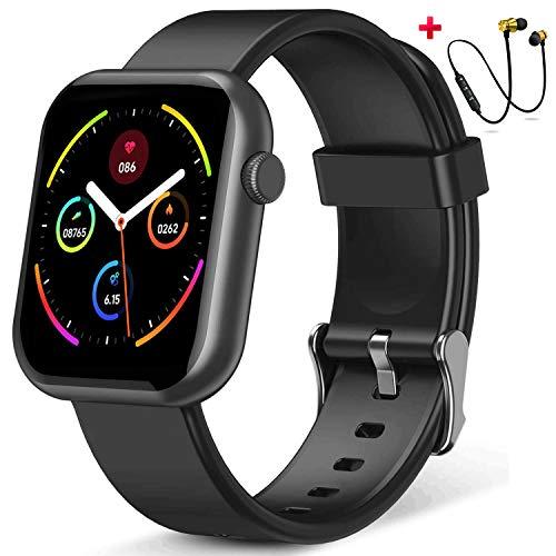 Smartwatch,Orologio Fitness Uomo Donna,Smart Watch con Contapassi Saturimetro (SpO2)/Misuratore Pressione/Sonno Cardiofrequenzimetro da Polso, Fitness Tracker Sport Impermeabile IP68 per Android iOS