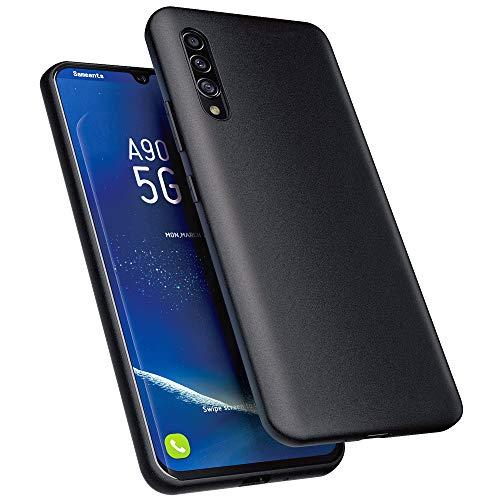 Sameants Hülle für Samsung Galaxy A90 5G Hülle, Ultra Dünn TPU Handyhülle Anti-Kratzer Schutzhülle für Samsung Galaxy A90 5G Hülle Cover - Matt Schwarz