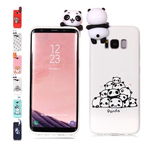 Universecase - Funda para Samsung Galaxy J5 2017 con diseño de oso panda 3D, silicona transparente y creativo, resistente a los golpes