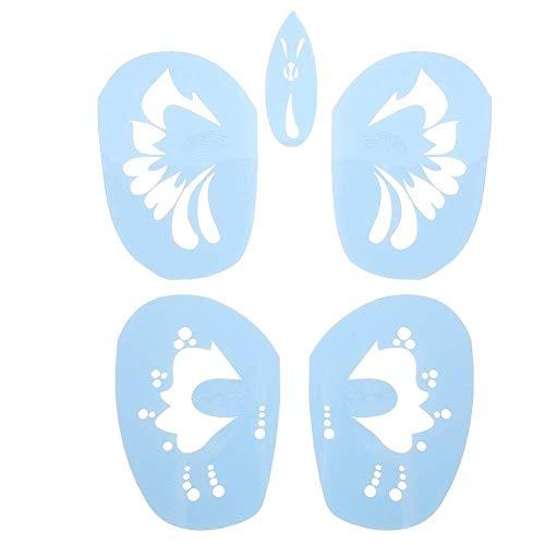 Gezicht Cosmetische Cosmetische 6 Stijlen/set Gezicht Verf Stencil Herbruikbare Tattoo Cosmetische Schilderij Tool Verse Natuurlijke Hydraterende Glad