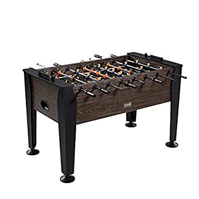 "Rally and Roar Foosball Table Game – 56"" Standard Size Fun, Multi Person Table Soccer Adults, Families - Recreational Foosball Games Game Rooms, Arcades, Bars, Parties, Family Night by The Ortega Group (White Label)"