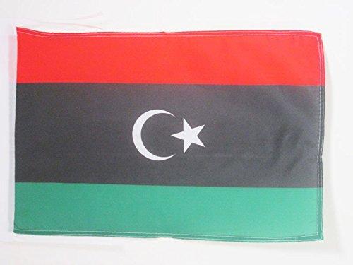 AZ FLAG Flagge LIBYEN 45x30cm mit Kordel - LIBYEN Fahne 30 x 45 cm - flaggen Top Qualität