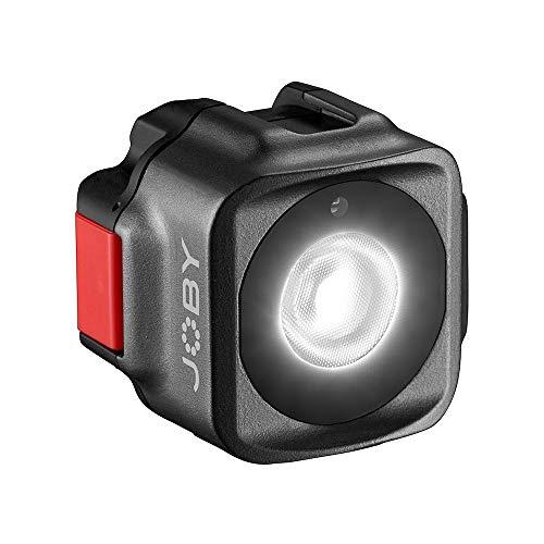JOBY Beamo Luz LED Mini para Smartphone y Cámaras Sin Espejos - Compacta, Carga Inalámbrica, Bluetooth, Impermeable, Apta para Vlogging, Fotos y Contenidos de Vídeo
