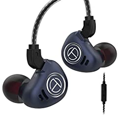 【Hybrid Drivers 4BA + 1DD In Ear Monitor TRN V90 】The TRN V90 has 4 balanced armature drivers and 1 piece super-sized 10mm dynamic driver, the Customized 10mm dynamic that brings out minute details in the bass without sacrificing body and transient a...