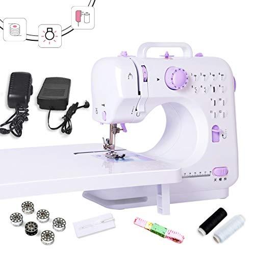 MTXD Naaimachine beginners, draagbare naaimachine verstelbare paars 2-versnellingen dubbeldraads elektrische handwerkreparatiemachine met voetpedaal -1.9