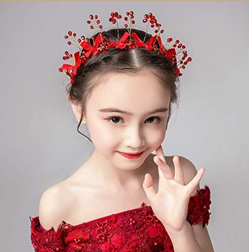 Kinder Krone Tiara Prinzessin Mädchen Krone Kristall großen Haarband Laufsteg Show Krone Kinder Geburtstag Haarschmuck