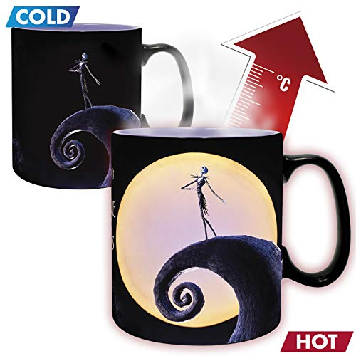 607254b - Lot de 2 mugs Nightmare Before Xmas - Mug Heat Change 460ml - Jack & la lune (PlayStation 4)