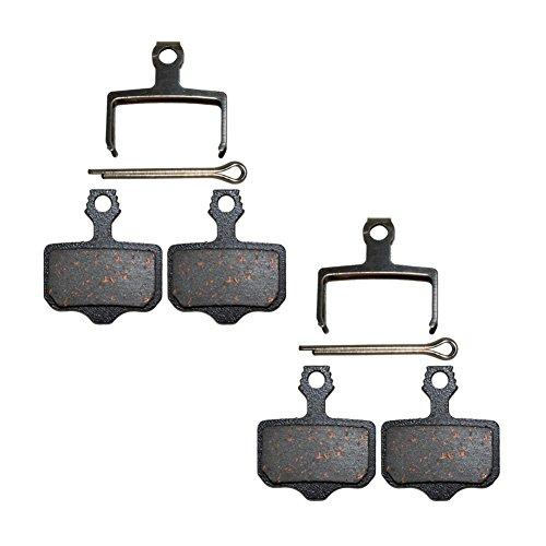 AHL Pastiglie Freno a Disco Semi-Metallico per Avid Elixir E1 E3 E5 E7 E9 R ER CR Mag Via GT X7 X 9 Sram XX World Cup X0 DB1 DB3 DB5 / Shimano BS-01S M355 M395 M446 M485 M495 (2 Paia)