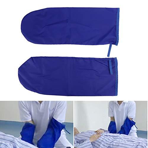 Transferhandschuhe, behinderte Patiententransfer bewegliche Handschuhe Bettpflegelift Gleithandschuhe(Blau)