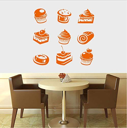 Muffins, Cupcakes, Taart, Snoepjes, Café, Dessert, Wafel, Fast Food,Food,Pastry, Muursticker Interieur Decor Mural 57X57Cm