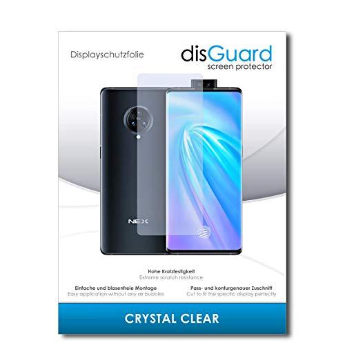 disGuard Bildschirmschutzfolie [Crystal Clear] kompatibel mit Vivo NEX 3 [2 Stück] Kristallklar, Transparent, Unsichtbar, Extrem Kratzfest, Anti-Fingerabdruck - Panzerglas Folie, Schutzfolie