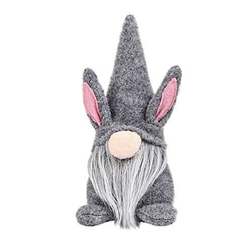 Moent Gnomo de Pascua sin rostro, adornos de mueca con forma de conejito de dibujos animados lindo juguete de peluche para nios, para decoracin del da de Pascua (multicolorA-1 unidad)