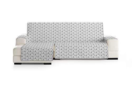 Eysa Nordic Funda, Poliéster, Gris, Chaise Longue 240cm. Válido para sofá Desde 250 a 300cm