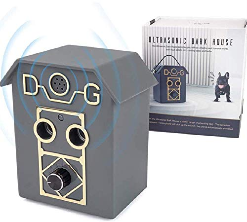 Antiladridos Ultrasonidos Perros, Automático Dispositivo Antiladridos Perros Vecinos Exterior Largo Alcance 15 Metros Disuasor Sónico Portátil