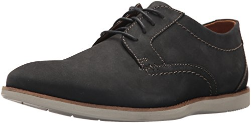 Clarks Men's Raharto Plain Shoe, blue nubuck, 8 Medium US