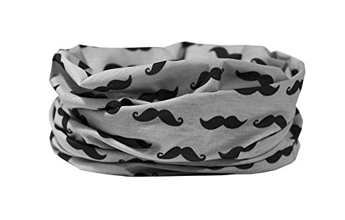 RUFFNEK Motif Moustache–Tour de Cou, Masque de Ski, tête Écharpe Multifonctionnel Écharpe/Tour de Cou–Taille Unique pour Hommes, Femmes et Enfants