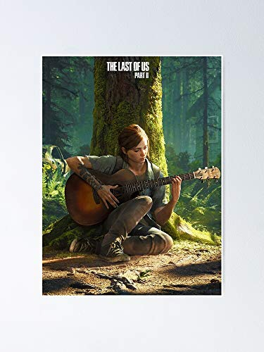 The Last of Us Part 2 Ii Beautiful Ellie Playi - for Office Decor, College Dorm, Teachers, Classroom, Gym Workout and School Halloween, Holiday, Christmas Party ! Great Inspirational Wall Art Poster.