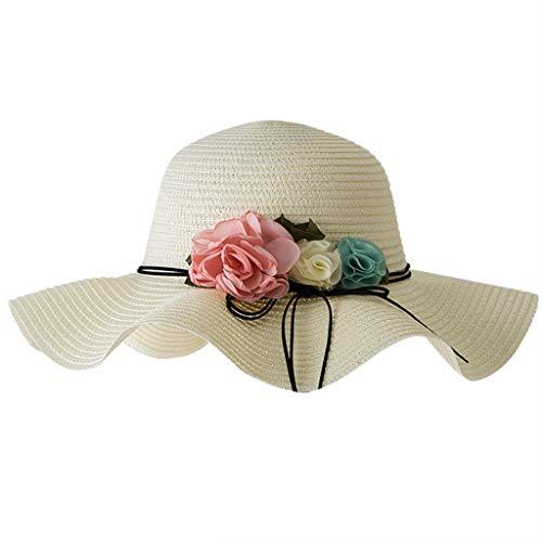Hahuha Kinderbekleidung,2-6 Jahre alt Sommer Baby Blume Atmungsaktiv Hut Stroh Sonnenhut Kinder Hut Junge Mädchen Hüte