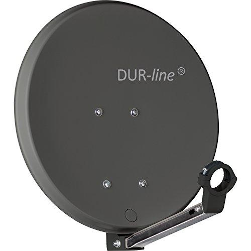 DUR-line DSA 40cm Anthrazit Hochleistungs Hart-Aluminium Spiegel - [Sat-Antenne, Satellitenschüssel, Camping, Balkon, Mini, Boot]