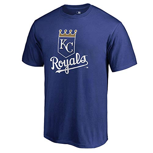 Outerstuff MLB Youth 8-20 Team Color Cool Base Polyester Performance Primary Logo T-Shirt (Small 8, Kansas City Royals)