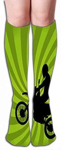 JAONGSADY Outdoor Sports High Socks Stocking jumping vuil bike silhouet goede Tile length