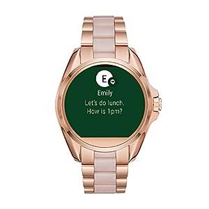 Michael Kors Access Touchscreen Rose Gold Acetate Bradshaw Smartwatch MKT5013