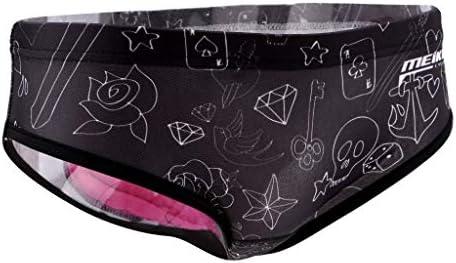 "Ropa interior de ciclismo para mujer, transpirable, gel 3D acolchado, ropa interior para ciclismo al aire libre, color negro, talla M (26,8""-35,4""/45-50 kg)"