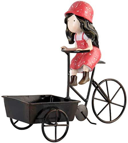 YsKYCA Estatua Escultura Decoración Accesorios De Adorno De Estatuilla Carácter Creativo Niña Montando Un Triciclo Habitación Infantil Escritorio Cumpleaños