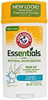 Arm & Hammer Essentials Natural Deodorant Clean, 71 Gms